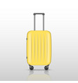 yellow travel suitcase with reflec shadow vector image
