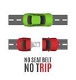 Safety belt conceptual background vector image