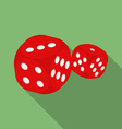 Dice icon Modern Flat style with a long shadow vector image