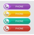 flat buttons phone vector image