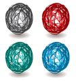 scribble abstract ball vector image