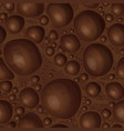 aerated chocolate texture vector image vector image