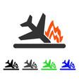 airplane crash flat icon vector image