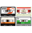 Audio plastic cassette tapes vector image