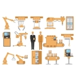 Automated Assembly Decorative Icons Set vector image vector image