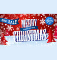 banner big sale horizontal red flyer merry vector image