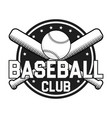 baseball badge or logo vector image vector image