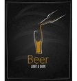 beer glass chalkboard menu background vector image vector image