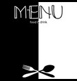 black and white layout for menu vector image vector image