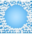 Blue Valentines day background vector image vector image