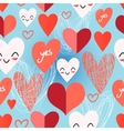 Bright pattern from different hearts vector image