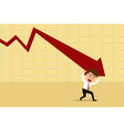Business failure Down trend graph and rebound vector image