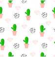 cactus seamless pattern fun summer background vector image vector image