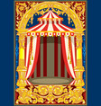 carnival circus birthday card vector image vector image