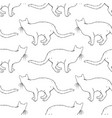 cats seamless pattern coloring book page vector image vector image