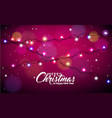 christmas with glowing colorful vector image vector image