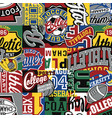 college sporting labels patchwork vector image