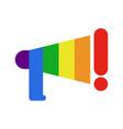 coming out lgbt sign message lesbians and gays vector image