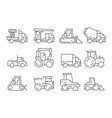 construction vehicles heavy machinery vector image