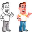 Dandy Man Cartoon Mascot vector image vector image