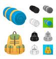 different kinds of tents cartoonblackflat vector image vector image