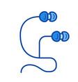 earpieces line icon vector image