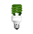 eco bulb icon realistic style vector image vector image