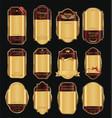 empty vintage golden frame background collection 1 vector image vector image