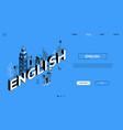 english language colorful landing page vector image