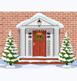 entrance to the suburban house vector image vector image