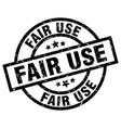 fair use round grunge black stamp vector image vector image