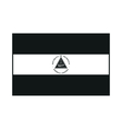 Flag of Nicaragua monochrome on white background vector image vector image