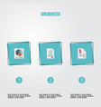 flat icons duty act pie bar and other vector image vector image