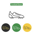 football boot line icon for web mobile and vector image vector image