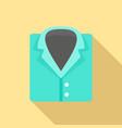 forensic laboratory shirt icon flat style vector image