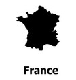 france map icon simple style vector image vector image