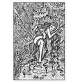 genny greenteeth river hag engraved fantasy vector image vector image
