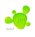 Green prickly pear cactus vector image