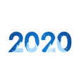 happy 2020 new year banner with flat mountains in vector image vector image