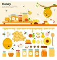 Honey products on the table vector image vector image