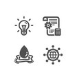 idea settings blueprint and water splash icons vector image vector image