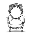 imperial baroque chairs collection with luxurious vector image vector image
