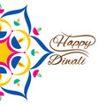 indian festival for diwali celebration greeting vector image vector image