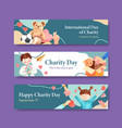 International day charity banner concept