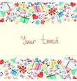 Invitation card birthday holiday vector image