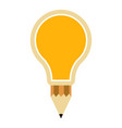 isolated lightbulb icon vector image vector image