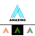 letter a enclosed in a triangle abstract logo in vector image