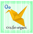 Letter O vector image