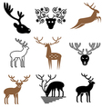 logo icons deer vector image vector image