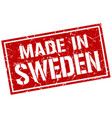 made in sweden stamp vector image vector image